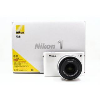 【青蘋果3C】Nikon 1 Nikon J1 + 10-30mm f3.5-5.6 白 單鏡組快門1365%2316850