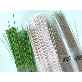 花藝資材-鐵絲 裸線%2326 %2328 綠色鐵絲%2326 %2328 %2330 白色鐵絲 不凋花 乾燥花 鮮花 捧花 插花