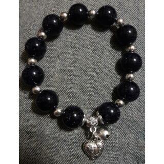 粉晶&藍晶沙設計款手珠