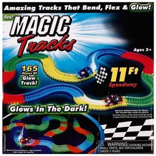 歐美爆款軌道小車Magic Tracks 魔術軌道兒童夜光軌道玩具車