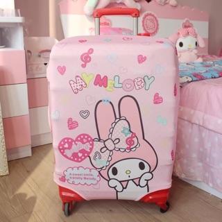 Melody行李箱套拉桿箱保護套彈力箱套卡通旅行箱防塵罩
