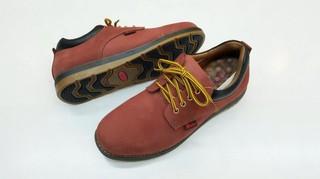 [康美佳鞋城]路豹新款66834紅牛超好穿手工真皮氣墊休閒運動鞋適合長久站立走路免運費優待