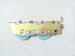 【灰鍋五金】鋁門窗、紗門、紗窗★調整輪KM-0053(雙輪仁 機械培林軸承) /鋁門輪 鋁窗輪 氣密窗輪