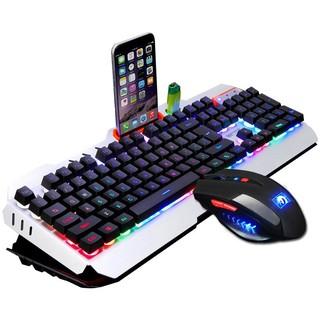 新盟曼巴狂蛇機械手感鍵盤鼠標套裝背光有線鍵鼠游戲電競網吧lol