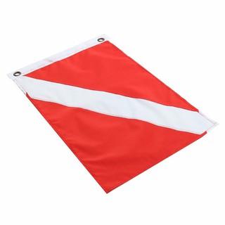 50*35cm 信號旗 紅白浮潛水旗