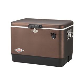 【Coleman】美國51L黑咖啡經典鋼甲冰箱/冰桶置物箱/保鮮桶/保冰/保鮮/飲料桶 CM-03741