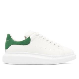 正貨100%   Alexander McQueen 綠尾小白鞋