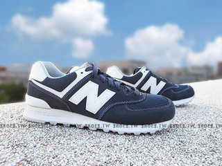 Shoestw ~ML574SEE ~NEW BALANCE NB574 復古慢跑鞋深藍白