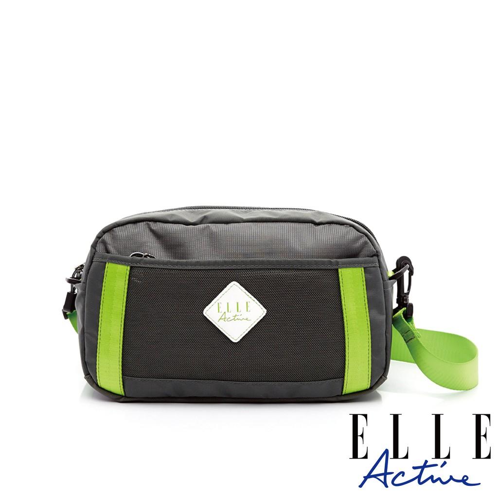 【ELLE active】Spolight幕光系列-腰包/側背包/斜背包-小-螢光綠