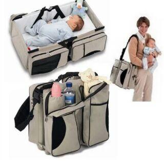 寶寶行動眠床+結合媽媽包+小臥鋪  (現貨~米白色*1)