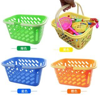 兒童磁性釣魚收納籃子手提塑料籃玩子玩具配件收納盒釣魚玩具籃子