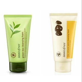 韓國代購 innisfree 火山泥洗面乳 綠茶洗面乳 保濕 潔顏泡泡