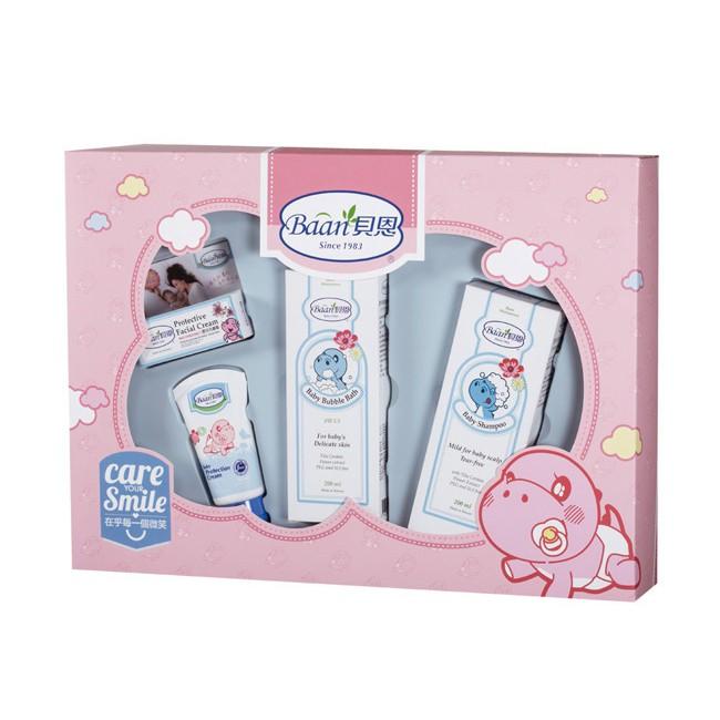 貝恩Baan 嬰兒歡心禮盒4件組 499元 +附公司紙袋