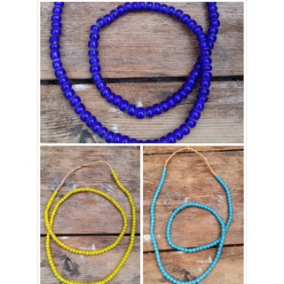 地安項鍊 老珠 玻璃珠項鍊 紅珠 白心珠 貿易珠 GD 民族風 紅珠白心