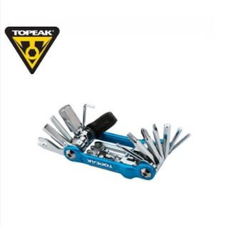 【吃一隻雞】TOPEAK Mini 20 Pro 藍色 TT2536 六角板手組 20種功能 附尼龍收納袋 迷你摺疊工具