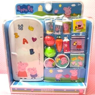 Peppa pig 粉紅豬小妹 佩佩豬 迷你廚具玩具 可愛小冰箱扮家家酒玩具 正版 冰箱組