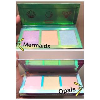 Lime Crime 偏光打亮Mermaids 美人魚Opals 三色打亮盤獨角獸