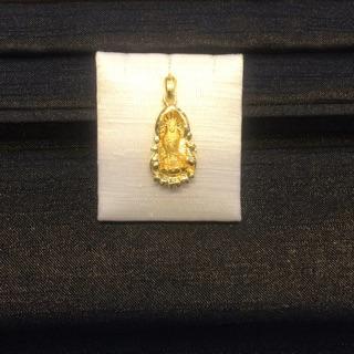 黃金墜飾。 重190、純金墜子(觀音墜)