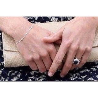二手真品 Tiffany 極新 PT950鉑金 3顆真鑽 手鍊手鏈 手環