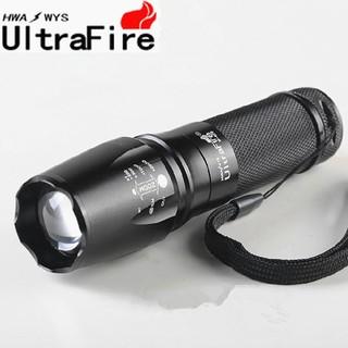 超強遠射王 XML-T6 LED 強光手電筒 爆亮伸縮變焦手電筒 大型魚眼燈頭光學凸透鏡 A218