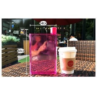 【愛貓】筆記本水壺小盒A5紙張水杯筆記本紙片扁水壺韓國塑料時尚男女隨手便攜瓶子