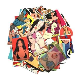 52 張18 禁性感色情成人 貼紙 行李箱貼紙旅行箱筆記本貼畫潮