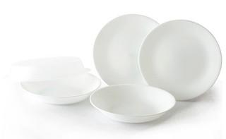 Q5CORELLE 康寧純白5件式餐盤組-E20 (4盤+1碗)