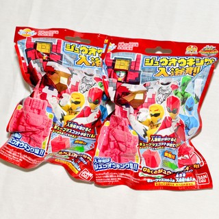 動物戰隊獸王者 入浴劑 + 方塊玩具 泡澡用 日本帶回BANDAI正版  ej032