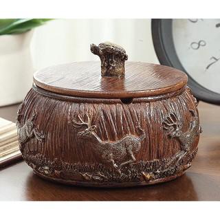 歐式菸灰缸收納盒煙灰缸帶蓋客廳時尚煙灰缸 2375b