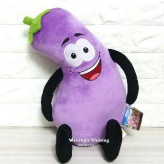 40公分 紫色 茄子 歪腰 大茄子 蔬菜 娃娃 玩偶 抱枕