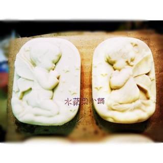 A-123 4連 四孔天使模具 手工皂模具 男女小天使模组合模 矽膠蛋糕模