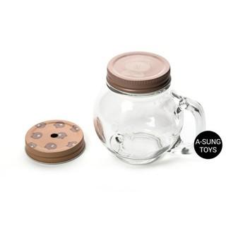 【玻璃杯】 Line Friends 熊大 玻璃杯 水杯 胖胖杯 玻璃罐 沙拉罐 梅森瓶 糖果罐 野餐 露營 旅遊