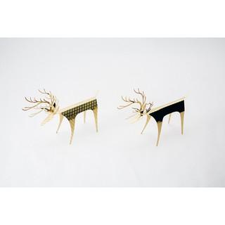 PLEASANT|黃銅快鹿禮卡 - 黃銅卡片 立體小鹿擺飾 禮物