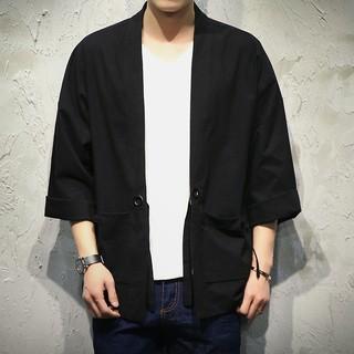 中國風唐裝夾克春夏中式改良漢服復古盤扣上衣潮胖子大碼寬鬆和服