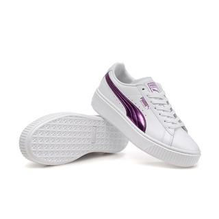 代購 Puma Muse Satin EP 休閒鞋 白紫365521-01 有氧