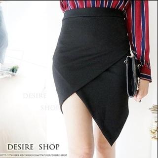 不規則窄裙 片裙 黑色 OL必備 上班族窄裙