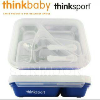 thinkbaby環保不鏽鋼兒童餐盤組