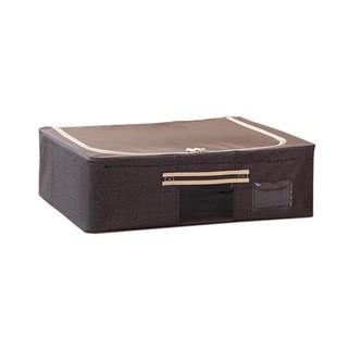 床下扁形30升牛津布收納箱 床底收納盒鞋子玩具鋼架儲物箱