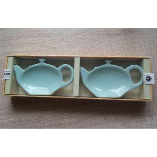 (全新)Le Creuset 薄荷綠 茶包盤/果醬盤/醬料碟 ~1組2入