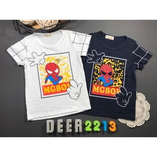 鹿兒童裝(221333)蜘蛛人米奇手套短袖上衣 百元童裝 平價童裝 童裝