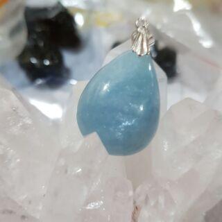 海水藍寶石墜
