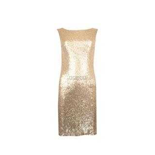 優雅氣質露背亮片包臀小禮服洋裝
