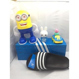 Adidas 愛迪達三條線拖鞋黑白一體成型防水Duramo Slide G