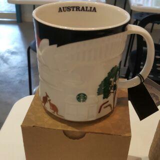 星巴克澳洲浮雕杯