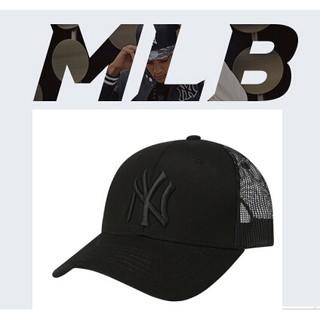 韓國代購MLB男女遮陽防曬棒球網帽鴨舌帽網帽黑色NY專櫃正品