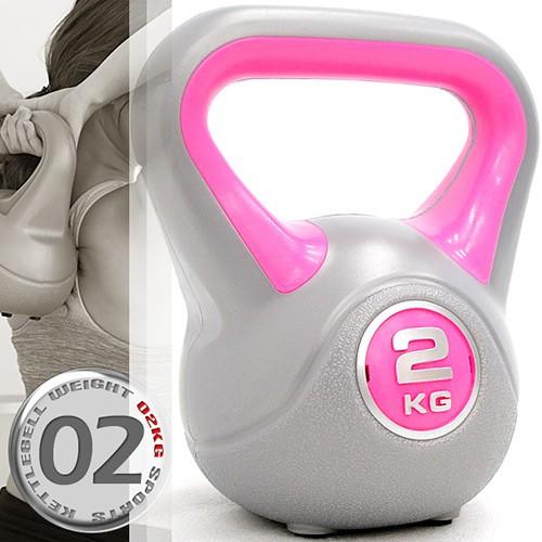 運動2公斤壺鈴(4.4磅)C113-1802競技2KG壺鈴.拉環啞鈴搖擺鈴.舉重量訓練用品.重力設備健身器材