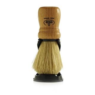 Omega 80005 豬鬚毛刮鬍刷 山毛櫸木手柄  附鬍刷架