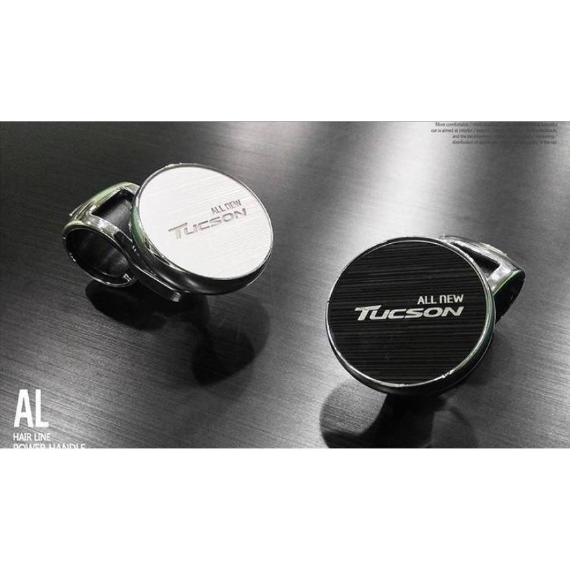現代 NEW TUCSON NEW SANTA FE ELANTRA 髮絲銀黑方向盤輔助鈕