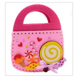 糖果手提包不織布手工材料包