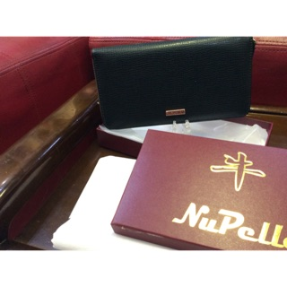 Nu Palla 韓系真皮長夾(黑色/粉紅色/丈青色)